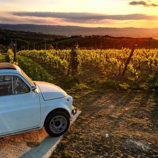Lovely night for a ridelasegreta lasegretaumbria collazzone madeincollazzone la500 fiat500hellip