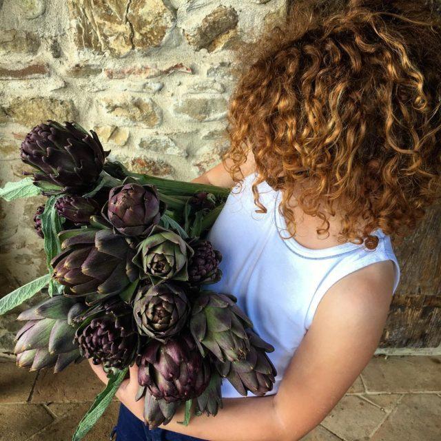 Fresh from our orto carciofo artichokes lasegreta lasegretaumbria lasegreta collazzonehellip