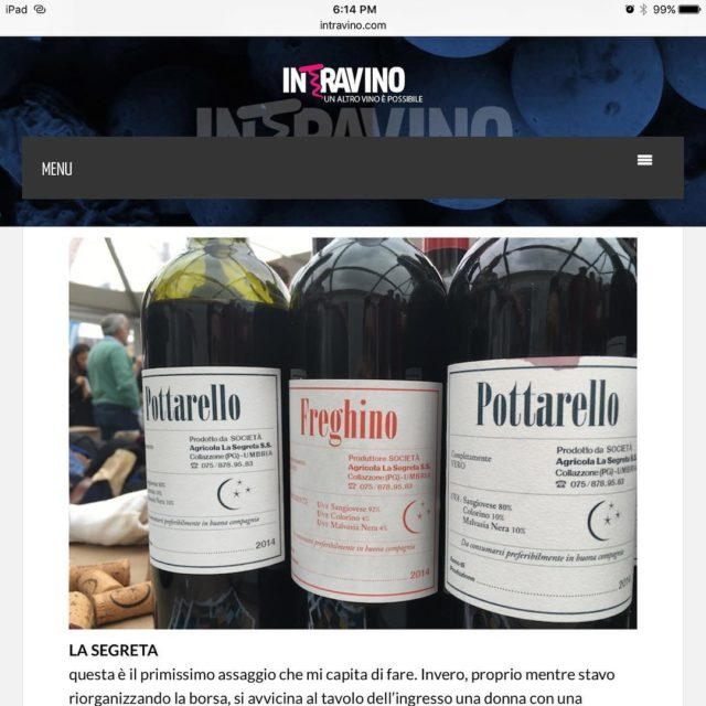 Tickled red that our wines were featured on Intravino vinodecisoepoderosohellip