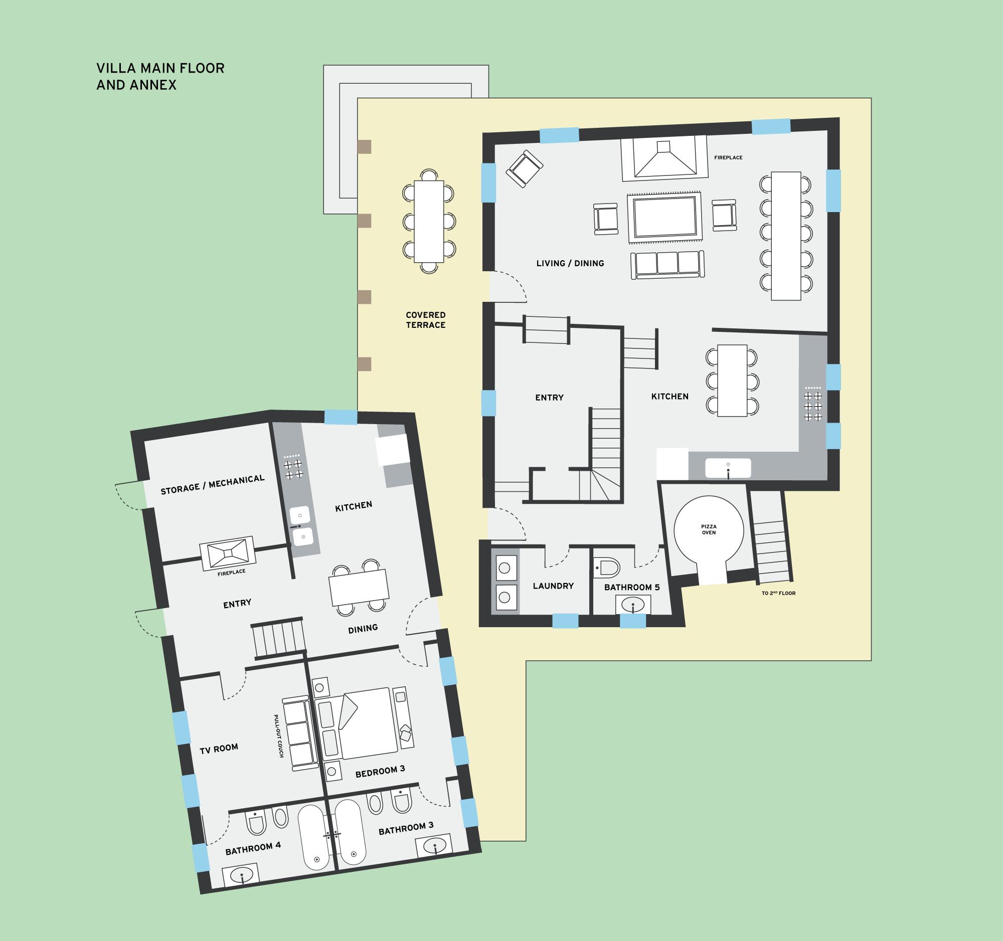 the villa floorplans la segreta the villa floorplans